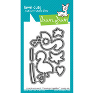 Lawn Fawn Flamingo Together Die Set