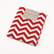 Darice Fabric Fat Quarter - Red Chevrons