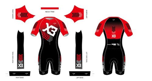 X3 Short Sleeve Tri Suit