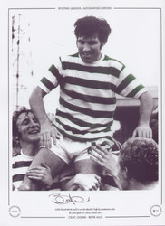 Bertie Auld in his last game for Celtic