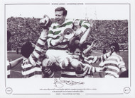 Billy McNeill celebrates after Celtic win the Scottish Cup Final 1965
