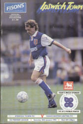 original Official programme for the Premier League match Ipswich Town V Manchester United played on 30 January 1993.