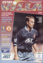 original Official programme for the Premier league match Aston Villa V Manchester United played on 19 August 1995.