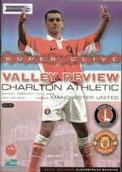 original Official programme for the Premier league match Charlton Athletic V Manchester United played on 10 February 2002.