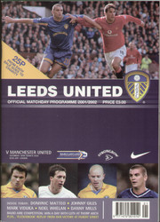 original Official programme for the Premier league match Leeds United V Manchester United played on 30 March 2002.