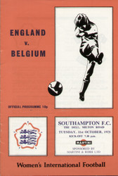 On offer is an original official programme for the International match England Ladies V Belgium Ladies, the game was played on 31 October 1978. An increasingly rare programme and nice piece of football memorabilia.
