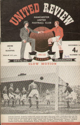 On offer is an original Official programme for the League Division 1 match Manchester United V Blackpool played on 1 December 1951 at Old Trafford.