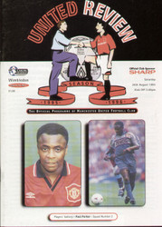On offer is an original Official programme for the Premier League match Manchester United V Wimbledon played on 26 August 1995 at Old Trafford.