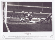 Cliff Jones scores Tottenham Hotspur's 3rd goal in a thrilling 4-3 victory over Olympique Lyonnais in the European Cup Winners Cup 2nd round at White Hart Lane, 1967.