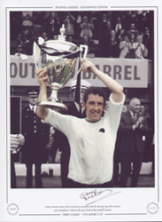 Derby County captain Dave Mackay is presented with the Watney Cup after victory over Manchester United in the 1970 final at the Baseball ground.