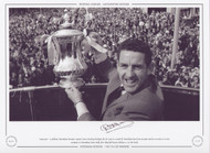 May 1967 - A jubilant Tottenham Hotspur captain Dave Mackay displays the FA Cup to a crowd of Tottenham fans from an open top bus en route to a civic reception in Tottenham Town Hall, after they had beaten Chelsea 2-1 in the Final.