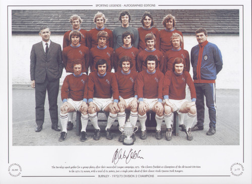 The Burnley squad gather for a group photo after their successful 1973 League campaign. The clarets finished as Champions of the old second division for the 1972/73 season with a total of 62 points.