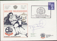 an original first day cover to celebrate Bolton Wanderers first home match back in Division 2 after gaining promotion as champions, issued in September 1973. Complete with original filler card.