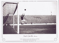 Manchester City goalkeeper Bert Trautmann, collects a high ball against Middlesborough, during a League Division 1 encounter at Maine Road, 1951.