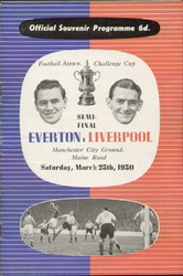 1950 FA Cup Semi Final Programme Everton V Liverpool