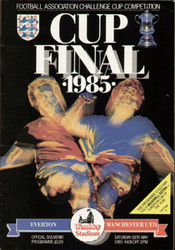 original Official 1985 FA Cup Final programme. The game, Everton V Manchester United was played on 18th May 1985 at Wembley Stadium.