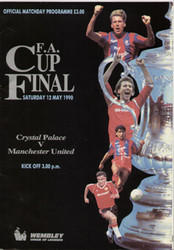 original Official 1990 FA Cup Final programme. The game, Crystal Palace V Manchester United was played on 12th May 1990 at Wembley Stadium.
