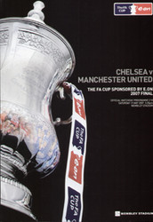 original Official 2007 FA Cup Final programme. The game, Chelsea V Manchester United was played on 19th May 2007 at Wembley Stadium.