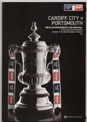 original Official 2008 FA Cup Final programme. The game, Cardiff City C Portsmouth was played on 17th May 2008 at Wembley Stadium.