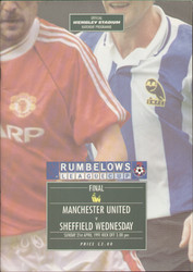 original Official 1991 League Cup Final programme. The game, Manchester United V Sheffield Wednesday was played on 21st April 1991 at Wembley Stadium.