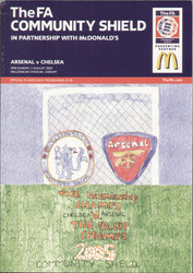 original Official 2005 FA Charity Shield programme. The game, Arsenal V Chelsea was played on 7th August 2005 at the Millennium Stadium, Cardiff.