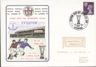 original first day cover to celebrate Everton V AC Milan in Europe 1975, issued in September 1975.