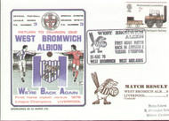 original first day cover to celebrate West Brom's return to Division one, issued in August 1976.