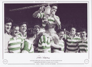 Celtic players celebrate after victory over Motherwell in the 1951 Scottish Cup Final. A single goal from John McPhail was enough to secure a 1-0 victory.