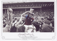 West Ham United's Trevor Brooking is chaired by jubilant fans after the Hammers 2-0 victory over London rivals Fulham, in the 1975 FA Cup Final.