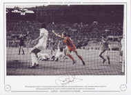 Phil Neal opens the scoring for Liverpool in the 1984 European Cup Final V Roma, at the Stadio Olimpico in Rome. Neal's 13th minute strike was cancelled out by Pruzzo just before half time, but Liverpool prevailed in the penalty shoot-out to claim their 4th European title.