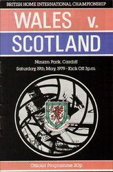 original Official programme for the international match Wales V Scotland played on 19 May 1979 at Ninian Park, Cardiff.