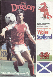 original Official programme for the international match Wales V Scotland played on 28 May 1983 at Ninian Park, Cardiff.