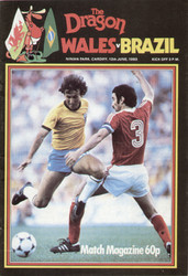 original Official programme for the international match Wales V Brazil played on 12 June 1983 at Ninian Park, Cardiff.