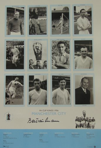 Superb handsigned Cup Kings series limited edition. The picture contains 12 pen pictures, one of each member of the victorious Manchester City side, including their then manager, Les Mcdowall. The legend contains full details of each round.