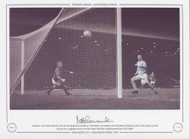 Manchester City's Mike Summerbee scores the winning goal past Manchester United keeper Alex Stepney in the 82nd minute to book City, a place in the League Cup Final. City ran out 4-3 aggregate winners over their closest rivals after a pulsating second leg at Old Trafford.