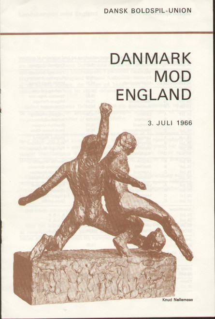 original Official programme for the international match Denmark V England played on 3 July 1966.