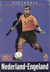 original Official programme for the International match Holland V England, the game was played on 13 February 2002 at The Amsterdam Arena.