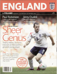 original Official programme for the World Cup qualifier England V Poland, the game was played on 12 October 2005 at Old Trafford.