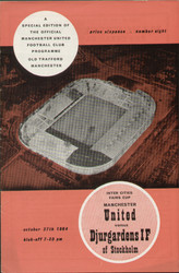 original Official programme for the Fairs Cup match Manchester United V Djurgardens IF played on 27 October 1964 at Old Trafford.