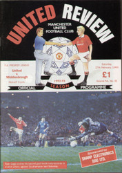 original Official programme for the Premier League match Manchester United V Middlesbrough played on 27 February 1993 at Old Trafford.