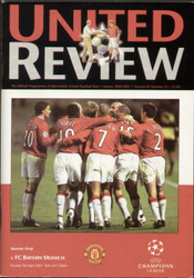 original Official programme for the Champions League match Manchester United V Bayern Munich played on 3 April 2001 at Old Trafford.