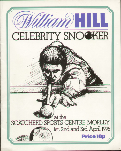original celebrity snooker programme held in Morely on 1-3 April 1976. The programme has been signed by boxing legend John H Stracey, cricket legend Fred Trueman and celebrities Ed Stewart & Kenny Lynch.