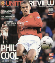 original Official programme for the Premier League match Manchester United V Blackburn Rovers played on 19 April 2003 at Old Trafford.
