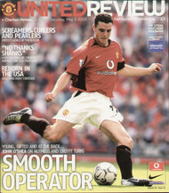 original Official programme for the Premier League match Manchester United V Charlton Athletic played on 3 May 2003 at Old Trafford.