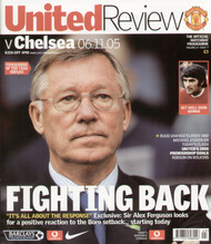 original Official programme for the Premier League match Manchester United V Chelsea played on 6 November 2005 at Old Trafford.