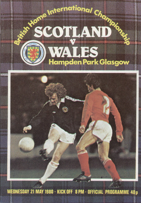 original Official programme for the international match Scotland V Wales played on 21 May 1980 at Hampden Park.