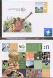 official World Cup 2006 first day cover issued by the German Post Office to celebrate the 2006 World Cup.