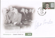 Rare 1958 Munich Air Disaster signed first day cover. These covers were issued in 2008 by the Irish Post Office to commemorate the 50th anniversary of the Munich Air Disaster. This cover has been hand signed by Manchester United legend and the air crash survivor Albert Scanlon.