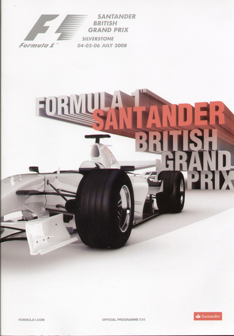 original Official 2008 British Grand Prix programme. The race was held on 4-6 july 2008 at Silverstone.