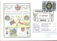 original first day cover to celebrate Manchester City in Europe, issued in September 1977. Complete with filler card.